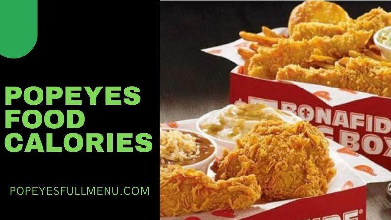 Popeyes Food Calories